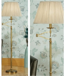 Antique Brass Swing Floor Lamp