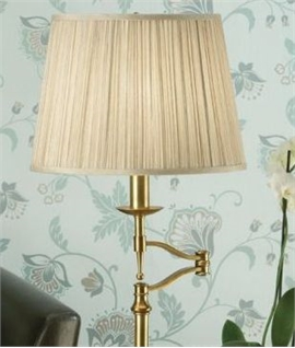 Antique Brass Swing Arm Table Lamp