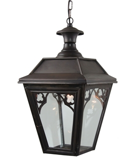 Victorian Style Lantern with Gothic Detail IP44
