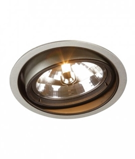 Adjustable Recessed Silver Downlight - AR111 Lamp
