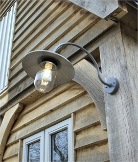 Exterior Arched Neck Fisherman Style Wall Light