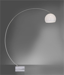 Modern Arched Floor Lamp with Marble Base