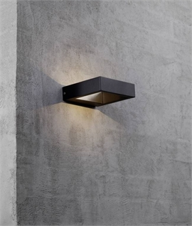 Black Square LED Up & Down Light
