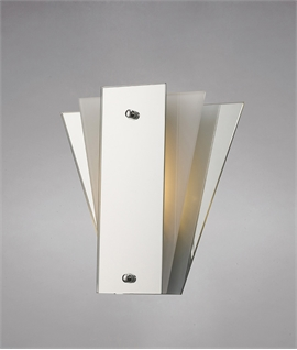 Mirror & Glass Art Deco Wall Light
