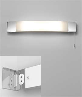 Bathroom Wall Light With Hidden Socket For Shavers And Toothbrushes