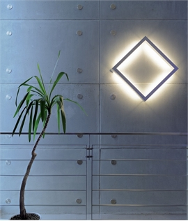 Backlit Square Decorative Wall Light