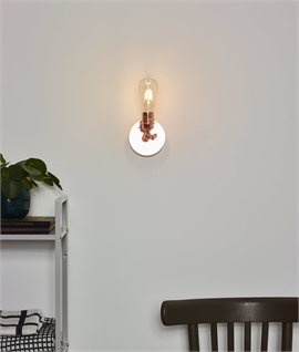 Vintage Copper Bare Bulb Wall Light