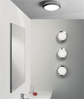 Practical Opal Glass Bathroom Lights for Wall or Ceiling
