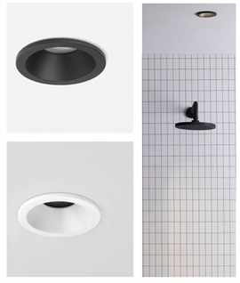 Mains Low-Glare Wetroom Downlight - White or Black IP65