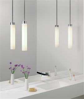 Polished Chrome Slim Bathroom Pendant IP44