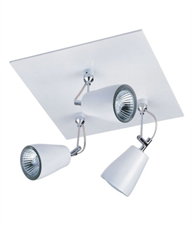 Triple Adjustable Spotlight in White