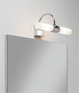 Bathroom mirror lights lighting styles over mirror wall light ip44 in polished chrome mozeypictures Gallery