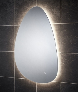 Teardrop CCT Backlit LED Bathroom Mirror - Built-in Demister
