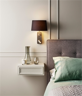 Bedside Reading Light with Adjustable LED Spot