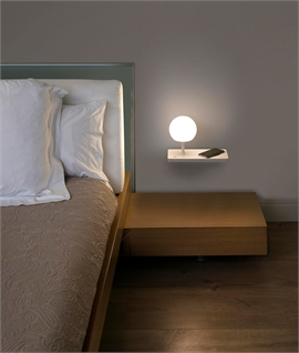 LED Glow Ball Shelf Light with Wireless Charging - Dimmable