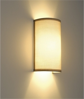 Modern wall light with fabric shades lighting styles beige shade wall light h300mm mozeypictures Gallery