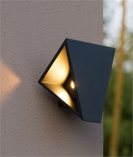 Angular LED Exterior Wall Light