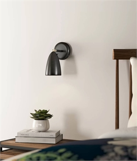 Metal Bullet Wall Light with Trailing Lead