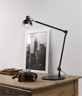 Black Long Reach LED Table or Wall Light