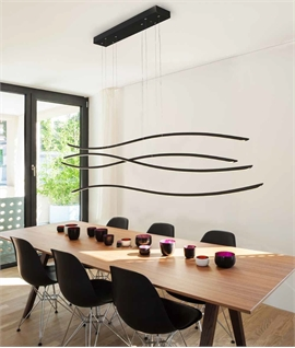 LED Suspended Linear Wave Pendant