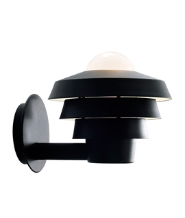 Exterior Tiered Wall Light with Opal Diffuser