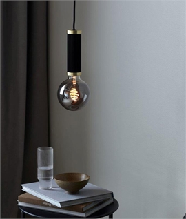 Black & Brass Decorative Single Flex Pendant