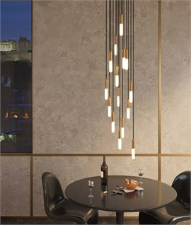 Long Drop 15 Light Pendant inc Tubular Lamps