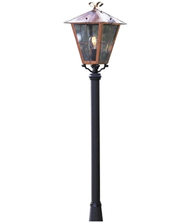 Copper & Glass Lamp Post H:1320mm