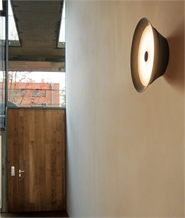 Modern Drum Wall Light - At Last Something Different