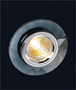 Chamfered Round Crystal Downlight - Clear or Black