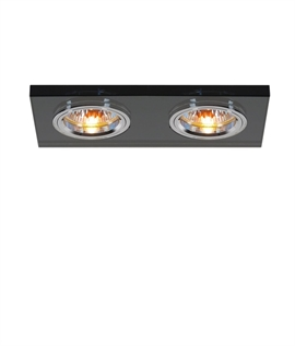 Crystal Glass Dual Lamp Recessed Downlight