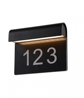 Curved LED Illuminated House Number Plate