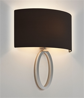 Ellipse Bracket Wall Light Shallow Projection & Curved Shade