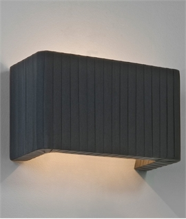 Pleated Black Fabric Wall Light