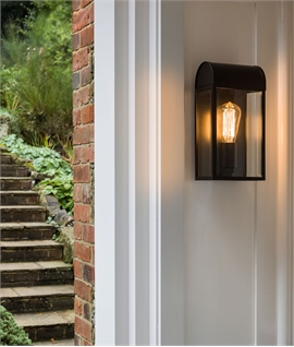 Modern Exterior Wall Mounted Lantern - 3 Finishes
