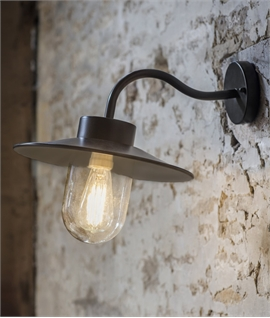 Exterior Swan Neck Fisherman Style Wall Light