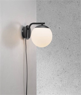 Opal Glass Globe Wall Light