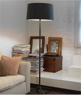 Floor Lamp & Fabric Shade - White or Black