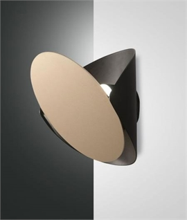 Modern Interior Up & Down Wall Light - Adjustable Shade