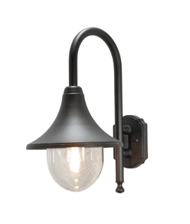 Continental Style Wall Lantern - Matt Black