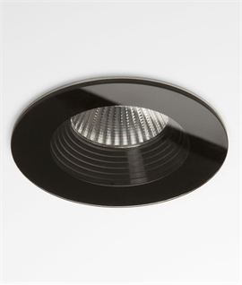 Stunning Round Glass LED Bathroom Fired Rated Downlights