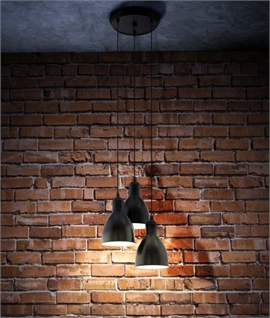 3 Light Drop Pendant - Black or Copper Flex 1100mm