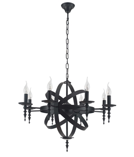 Black Cage Ironwork Chandelier