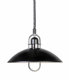 Metal Scandinavian Rise & Fall Pendant