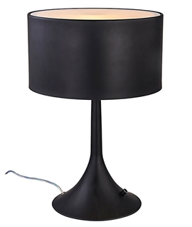 Modern Stylish Drum Table Lamp with Built-in Dimmer