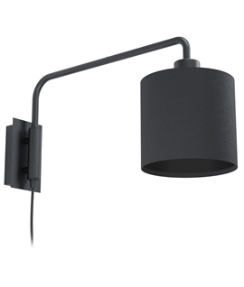 Long Reach Wall Light with Black Shade