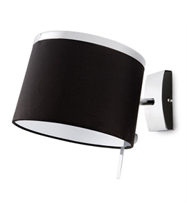 Black Shaded & Chrome Wall Light