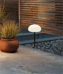 Opal & Black Spike Lawn Light - Rechargeable