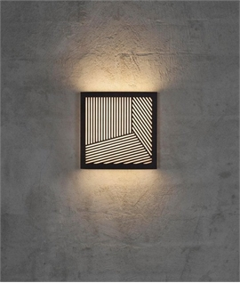 Square LED Wall - Straight Line & Circular Design