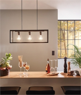 Black Box Frame 3 Light Pendant L:1100mm
